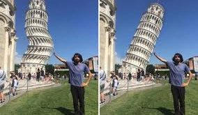 pisa kulesi komik fotoshop